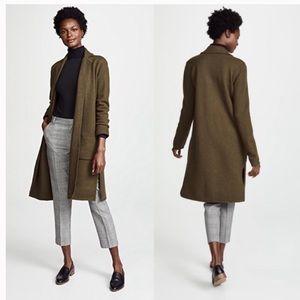 Madewell Camden boiled wool sweater coat green